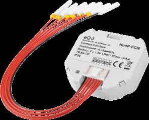Homematic IP Kontakt-Schnittstelle Unterputz – 6-fach