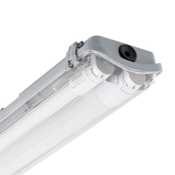 Set Wannenleuchte Slim mit 2 LED- Röhren 600mm einseitige Einspeisung