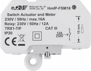 Homematic IP Schalt-Mess-Aktor 16 A – Unterputz